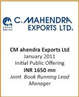 IB transactions-IPO-C-Mahendra-Exports-Ltd