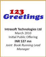 IB transactions-IPO-Intrasoft Technologies Ltd - March 2010