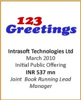 IB transactions-IPO-Intrasoft Technologies Ltd - March 2010